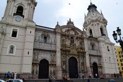 Catedral de Lima - catedral de Lima Imágenes de archivo libres de regalías