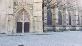 Catedral de Limoges en Francia almacen de metraje de vídeo