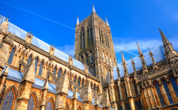 Catedral de Lincoln, Inglaterra Fotos de Stock Royalty Free