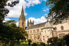 Catedral de LLandaff en Cardiff, País de Gales fotografía de archivo