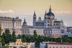 Catedral De Los angeles Almudena De Madryt, Hiszpania Obraz Stock