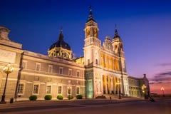 Catedral De Los angeles Almudena De Madryt, Hiszpania Zdjęcie Stock