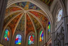 Catedral De Los angeles Almudena Wnętrze III Fotografia Stock