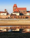 Catedral de los santos Johns en Torun Imagen de archivo libre de regalías