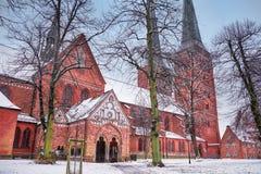 Catedral de Lubeck en la ciudad vieja, Alemania fotografía de archivo