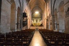 Catedral de Lund, Suécia - interior - nave imagem de stock