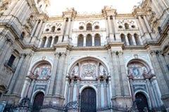 Catedral de Málaga foto de archivo libre de regalías
