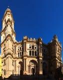 Catedral de Málaga Andalucía, España Foto de archivo libre de regalías