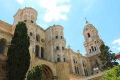 Catedral de Málaga con el campanario, Málaga, Andalucía, España foto de archivo libre de regalías