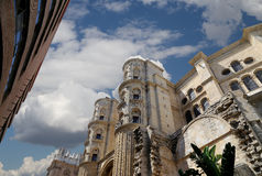 Catedral de Málaga-- es una iglesia del renacimiento en la ciudad de Málaga, Andalucía, España meridional Fotos de archivo libres de regalías