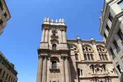 Catedral de Málaga-- es una iglesia del renacimiento en la ciudad de Málaga, Andalucía, España meridional Imagen de archivo libre de regalías