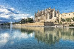 Catedral de Majorca Imagem de Stock Royalty Free