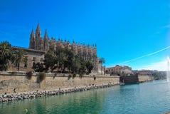 Catedral de Majorca en España fotos de archivo