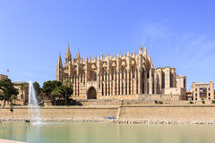 Catedral de Mallorca. The beautiful cathedral of Majorca Royalty Free Stock Image