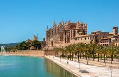 Catedral de Mallorca, Palma de Mallorca, Spagna Immagini Stock Libere da Diritti