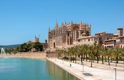 Catedral de Mallorca, Palma de Mallorca, Spanien Arkivbild