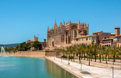 Catedral de Mallorca, Palma de Mallorca, Spanien Royaltyfria Bilder