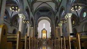Catedral de Manila, intra muros vídeos de arquivo