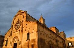 A catedral de Matera Imagem de Stock Royalty Free
