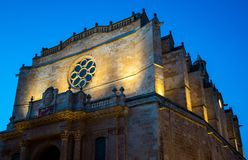 Catedral de Menorca na noite Foto de Stock Royalty Free