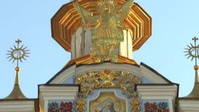 Catedral de Michael Gilded Orthodox de Saint em Kiev, Ucrânia, vídeo da metragem 4k video estoque