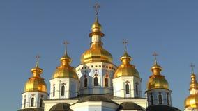 Catedral de Michael Gilded Orthodox de Saint em Kiev, Ucrânia, vídeo da metragem 4k vídeos de arquivo