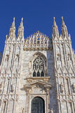 Catedral de Milán – el frente Fotografía de archivo