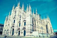 Catedral de Milão fotos de stock