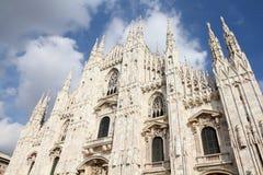 Catedral de Milão imagens de stock