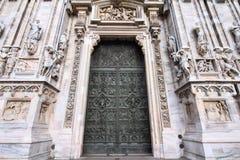 Catedral de Milão fotos de stock royalty free