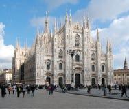 Catedral de Milão - domo fotografia de stock