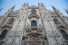 Catedral de Milão, domo. Italy foto de stock royalty free