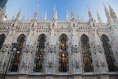 Catedral de Milão, domo. Italy fotografia de stock