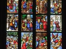 Catedral de Milano de la ventana de cristal Fotografía de archivo