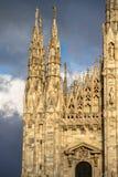Catedral de Milano, Italia Fotografía de archivo
