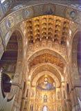 Catedral de Monreale. Mosaicos de oro. Sicilia fotos de archivo libres de regalías