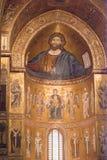 Catedral de Monreale. Mosaicos de oro. Sicilia fotografía de archivo