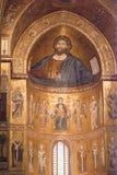 Catedral de Monreale. Mosaicos de oro. Sicilia Fotografía de archivo libre de regalías