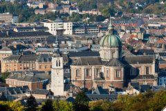 Catedral de Namur, Bélgica Imagen de archivo libre de regalías