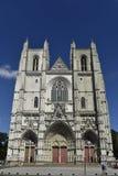 Catedral de Nantes, Pays de la Loire, França Foto de Stock Royalty Free