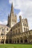Catedral de Norwich Foto de archivo libre de regalías