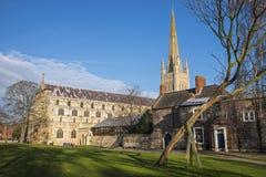 Catedral de Norwich Fotos de archivo libres de regalías
