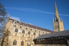 Catedral de Norwich Fotografía de archivo libre de regalías