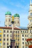 Catedral de nossa cara senhora, o Frauenkirche na cidade de Munich, Ger Imagens de Stock