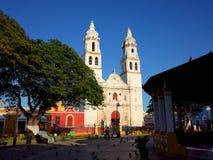 A catedral de nossa senhora da concepção pura em Campeche em México fotografia de stock