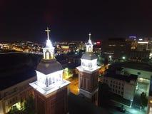 Catedral de nossa senhora de Lourdes fotos de stock