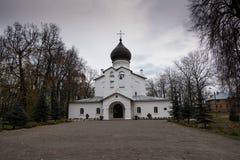 Catedral de nossa senhora Sovereign Fortaleza de Gdov imagens de stock