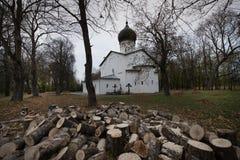 Catedral de nossa senhora Sovereign Fortaleza de Gdov fotos de stock royalty free