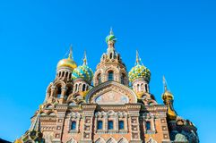 Catedral de nosso salvador no sangue Spilled em St Petersburg, Rússia, close up fotos de stock royalty free