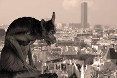 A catedral de Notre Dame da gárgula de Paris Foto de Stock Royalty Free